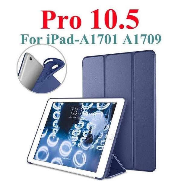 "PINkart-USA Navy For iPad Pro 10.5 Case iPad Air 3 Funda, PU Leather with Silicone Soft Back Smart Cover for iPad Air 3 3rd Gen 10.5"" 2019 Case"