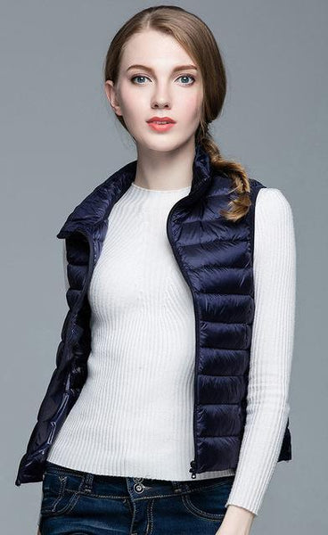 PINkart-USA Navy / S Winter Women 90% White Duck Down V Women'S Ultra Light Duck Down V Jacket Autumn Winter