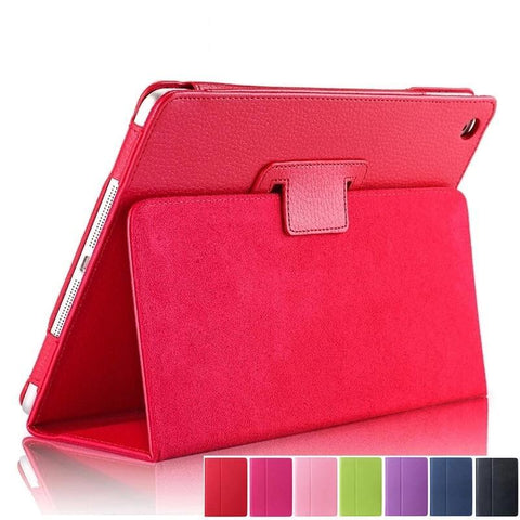PINkart-USA New For Apple ipad 2 3 4 Magnetic Flip Litchi PU Leather Case For ipad 3 for ipad 4 Cover with Smart Stand Holder