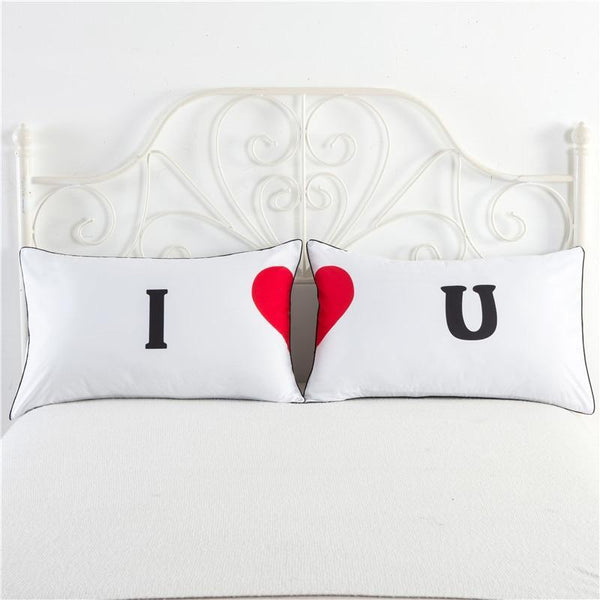 PINkart-USA Newly-Married Couple Lovers Pillowcase Wedding Bedding Plillow Cover King/Queen Wedding Bed