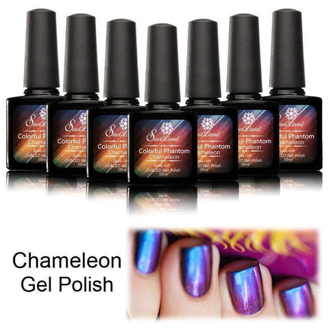 PinKart-USA Online Shopping 002 1Pcs Gel Polish Phantom Chameleon Different Angle Change Glitter Colors 10Ml Uv Nail Gel