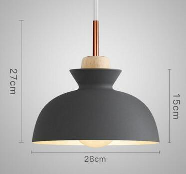 PINkart-USA Online Shopping 01 1 Fashion Colorful Modern Wood Pendant Lights Lamparas Minimalist Design Shade Luminaire Dining Room