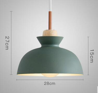 PINkart-USA Online Shopping 01 2 Fashion Colorful Modern Wood Pendant Lights Lamparas Minimalist Design Shade Luminaire Dining Room