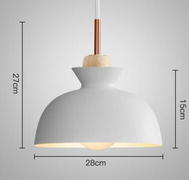 PINkart-USA Online Shopping 01 3 Fashion Colorful Modern Wood Pendant Lights Lamparas Minimalist Design Shade Luminaire Dining Room