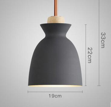 PINkart-USA Online Shopping 02 1 Fashion Colorful Modern Wood Pendant Lights Lamparas Minimalist Design Shade Luminaire Dining Room