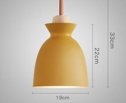 PINkart-USA Online Shopping 02 Fashion Colorful Modern Wood Pendant Lights Lamparas Minimalist Design Shade Luminaire Dining Room