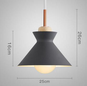 PINkart-USA Online Shopping 03 1 Fashion Colorful Modern Wood Pendant Lights Lamparas Minimalist Design Shade Luminaire Dining Room