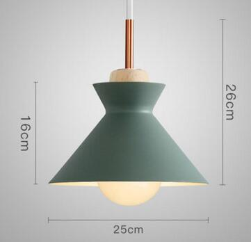 PINkart-USA Online Shopping 03 2 Fashion Colorful Modern Wood Pendant Lights Lamparas Minimalist Design Shade Luminaire Dining Room