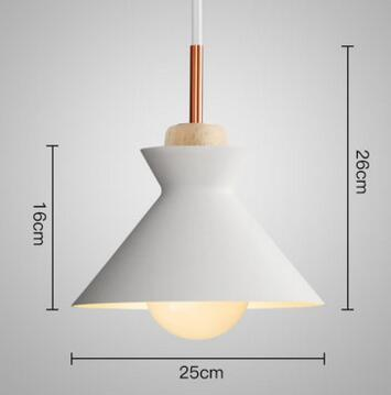 PINkart-USA Online Shopping 03 3 Fashion Colorful Modern Wood Pendant Lights Lamparas Minimalist Design Shade Luminaire Dining Room