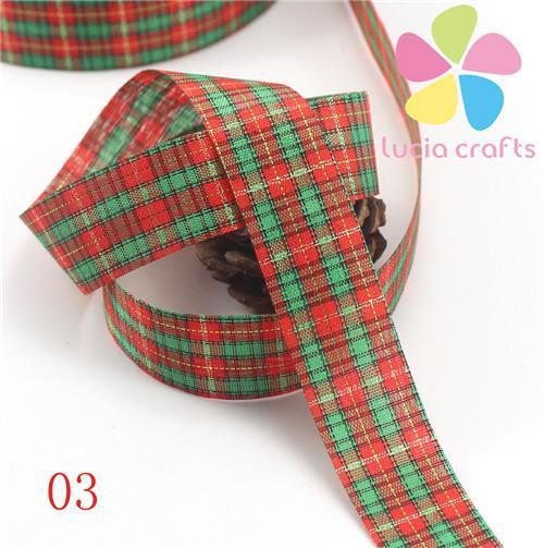 PinKart-USA Online Shopping 03 5 Yards 25Mm Printing Grosgrain Ribbon Bows Christmas Party Gift Decor Craft 040048006(1)