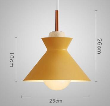 PINkart-USA Online Shopping 03 Fashion Colorful Modern Wood Pendant Lights Lamparas Minimalist Design Shade Luminaire Dining Room