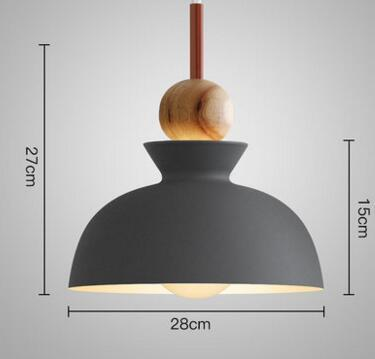PINkart-USA Online Shopping 04 1 Fashion Colorful Modern Wood Pendant Lights Lamparas Minimalist Design Shade Luminaire Dining Room