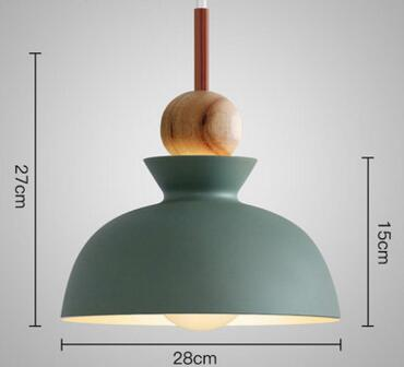 PINkart-USA Online Shopping 04 2 Fashion Colorful Modern Wood Pendant Lights Lamparas Minimalist Design Shade Luminaire Dining Room