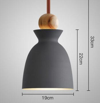 PINkart-USA Online Shopping 05 1 Fashion Colorful Modern Wood Pendant Lights Lamparas Minimalist Design Shade Luminaire Dining Room