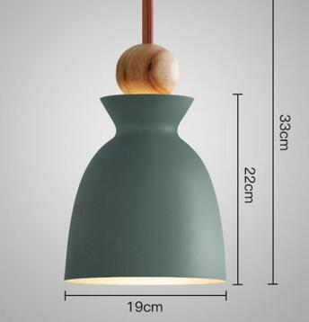 PINkart-USA Online Shopping 05 2 Fashion Colorful Modern Wood Pendant Lights Lamparas Minimalist Design Shade Luminaire Dining Room