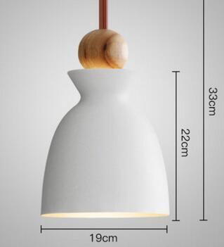 PINkart-USA Online Shopping 05 3 Fashion Colorful Modern Wood Pendant Lights Lamparas Minimalist Design Shade Luminaire Dining Room