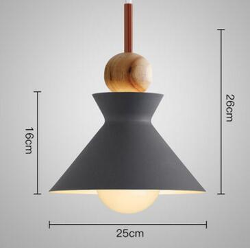 PINkart-USA Online Shopping 06 1 Fashion Colorful Modern Wood Pendant Lights Lamparas Minimalist Design Shade Luminaire Dining Room