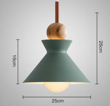 PINkart-USA Online Shopping 06 2 Fashion Colorful Modern Wood Pendant Lights Lamparas Minimalist Design Shade Luminaire Dining Room