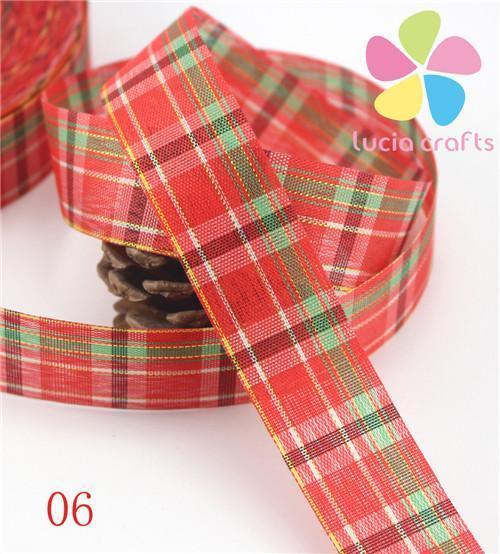 PinKart-USA Online Shopping 06 5 Yards 25Mm Printing Grosgrain Ribbon Bows Christmas Party Gift Decor Craft 040048006(1)