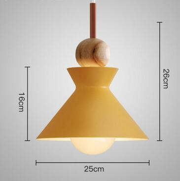 PINkart-USA Online Shopping 06 Fashion Colorful Modern Wood Pendant Lights Lamparas Minimalist Design Shade Luminaire Dining Room