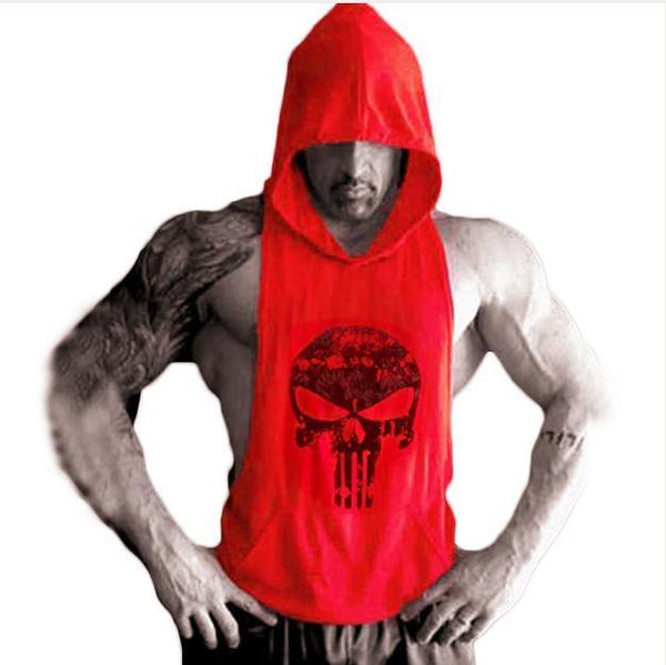 PINkart-USA Online Shopping 09 / XL New Brand Sleeveless Shirt Casual Fashion Hooded Tank Top Men Out Door Bodybuilding Fitness