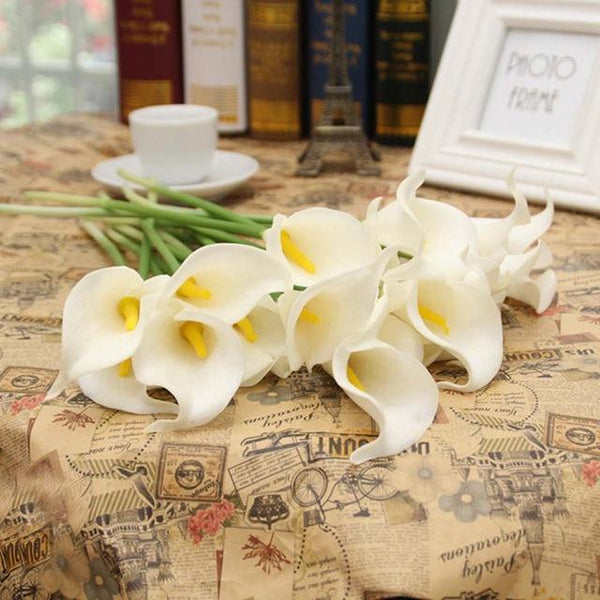 PinKart-USA Online Shopping 1 20 Pcs/Lot Wedding Decoration Elegant Calla Artificial Flowers Decorative Flowers Bouquet