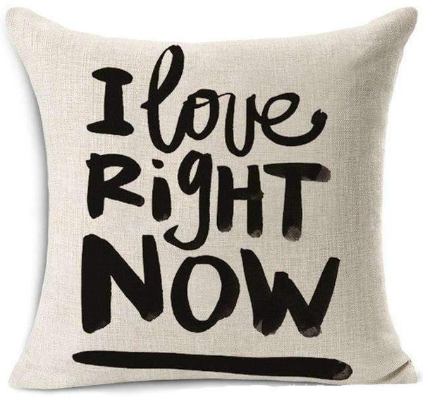 PinKart-USA Online Shopping 1 / 45x45 cm Hyha Funny Words Pillow Case Home 45X45 Cm Pillows Sea Sun Sand Style Pillowcases Home Pillows