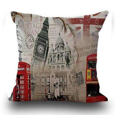 PinKart-USA Online Shopping 1 / 45x45cm Just Cover Miracille Fashion European Decorative Cushions London Style Throw Pillows Car Home Decor Cushion