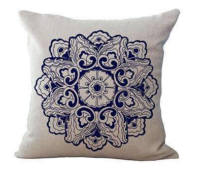 PinKart-USA Online Shopping 1 / 45x45cm Square 18 Linen Cushion Blue And White Porcelain Printed Home Decorative Cushions Almofada For