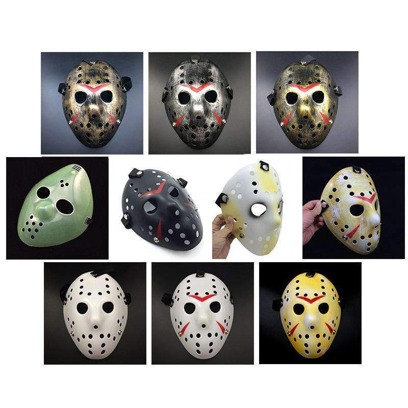 PinKart-USA Online Shopping 1 Gold Vintage Party Masks Dedicated Jason Voorhees Freddy Hockey Festival Halloween Masquerade Mask