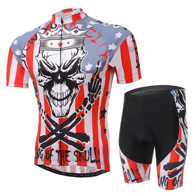 PINkart-USA Online Shopping 1 / L Skull Style Summer Cycling Clothing/Short Sleeve Cycling Jersey Ropa Ciclismo/Mtb Bike Jersey