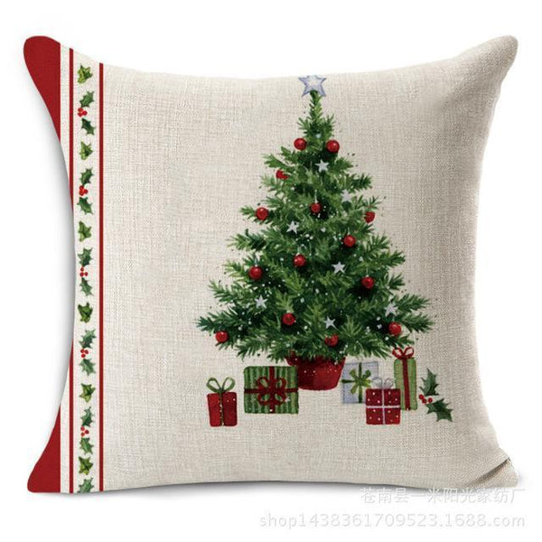 PinKart-USA Online Shopping 1 Merry Christmas Decorations For Home Decorative Throw Pillow Cover Case Green Trees Gift Cushion