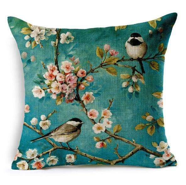 PinKart-USA Online Shopping 1 no filling / 45x45cm Birds Cushion Home Car Decorative Pillows Butterfly Almofada /Coussin / Linen Cojines Decoration