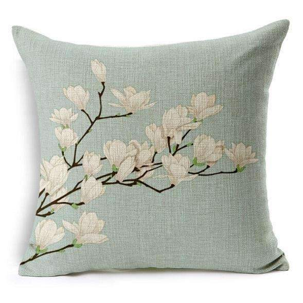 PinKart-USA Online Shopping 1 no filling / 45x45cm Flower Decorative Pillows Home Car Tree Cushions Funda Cojines Wave Coussin Decoration Ch5D07