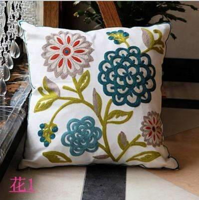 PinKart-USA Online Shopping 1 no filling Hot National Style Sofa /Carcushions Flowers And Fashion Pillows Decorate Hand-Embroidered