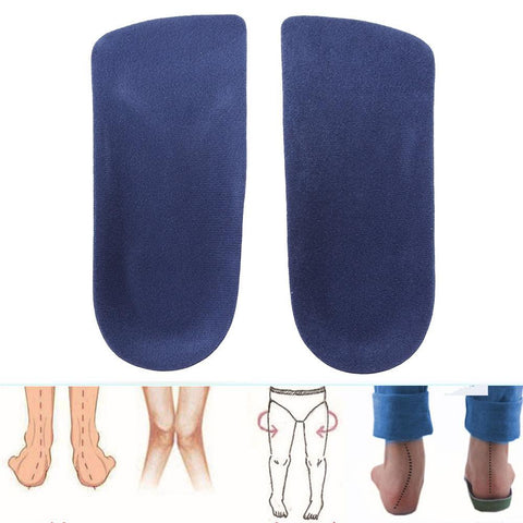 PINkart-USA Online Shopping 1 Pair 3/4 Women Orthotic Insoles Pads Heel Arch Support Plantar Fasciitis Massage Flat Feet Pads