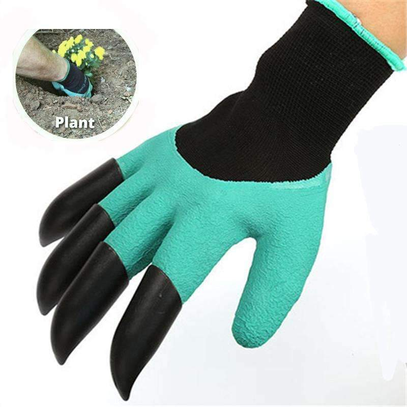 PinKart-USA Online Shopping 1 Pair Gardening Gloves For Garden Digging Planting Garden Genie Gloves With 4 Abs Plastic Claws
