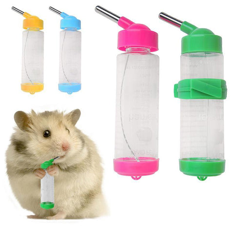 PINkart-USA Online Shopping 1 Pc 125Ml Water Bottles Dog Feeders For Dog/Bird/Rabbit/Hamster/Pet Hanging Bottle Auto Feeder