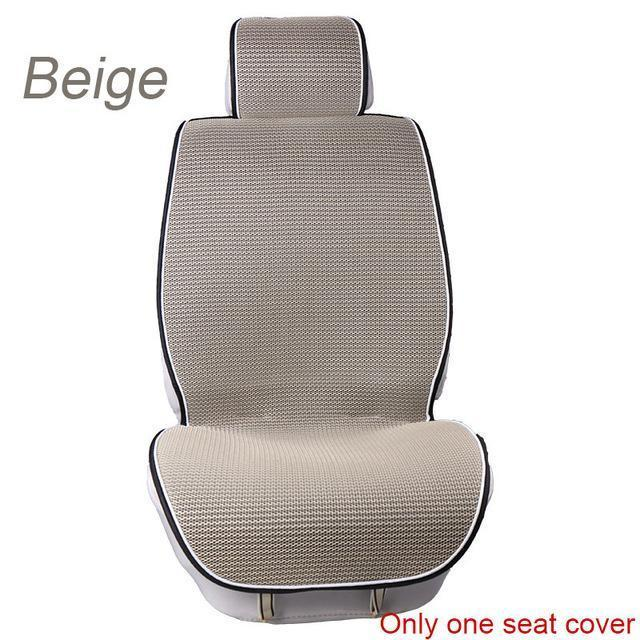 PinKart-USA Online Shopping 1 pc Beige 1 Pc Breathable Mesh Car Seat Covers Pad Fit For Most Cars /Summer Cool Seats Cushion Luxurious