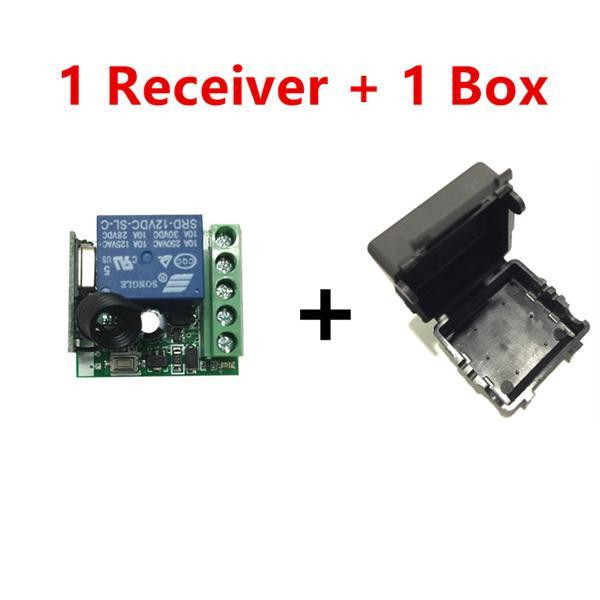 PINkart-USA Online Shopping 1 receiver and 1 box 433 Mhz Wireless Remote Control Switch Dc 12V 10A 1Ch Relay 433Mhz Receiver Module For 1527