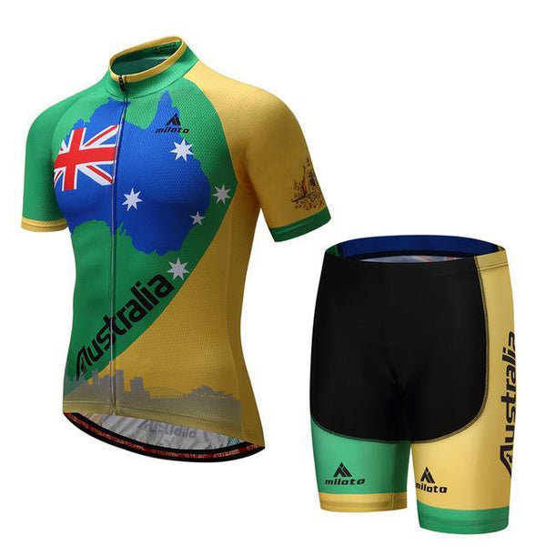 PINkart-USA Online Shopping 1 / S Australia Bike Team Racing Sport Cycling Jersey Ropa Ciclismo Sumemr Mtb Bike Jersey Cycling