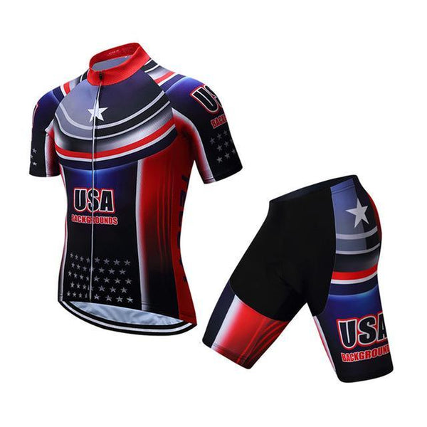 PINkart-USA Online Shopping 1 / S Teleyi Brand Pro Team Racing Sport Cycling Jersey Sets Men Usa Style Mtb Road Bike Jersey Quick Dry