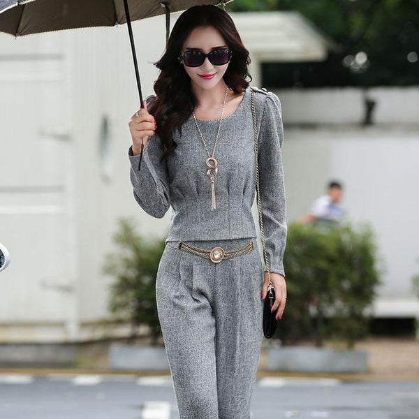 PINkart-USA Online Shopping 1 / S Women'S New Spring And Autumn Fashion Casual Trousers Set Female Large Long-Sleeved