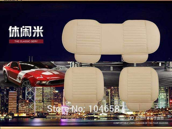 PinKart-USA Online Shopping 1 set 2 Car Seat Cover Styling Four Seasons Leather Breathable Car Interior Seat Cover Pad Seat Cushion