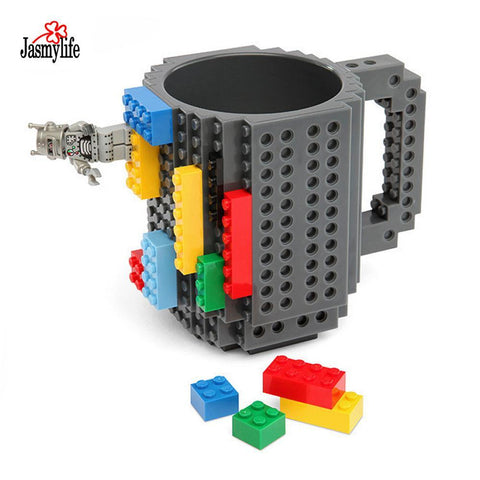 PINkart-USA Online Shopping 1 Set Build-On Brick Mug Lego Diy Puzzles Bulding Blocks Coffee Mugs 12Oz 350Ml Creative