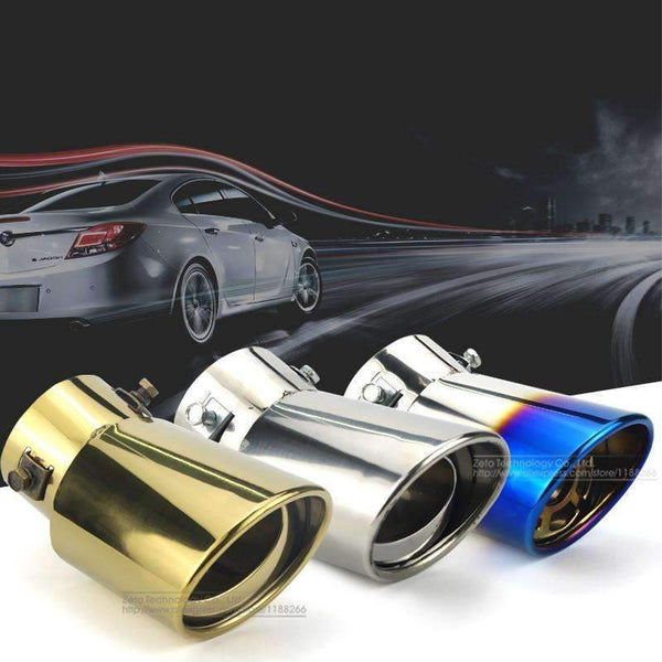PinKart-USA Online Shopping 1 Universal Car Auto Round Exhaust Muffler Tip Stainless Steel Pipe Chrome Trim Modified Car Rear Tai