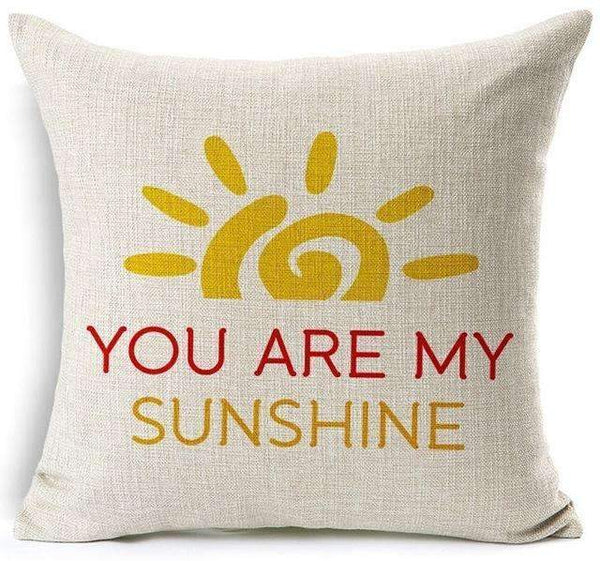 PinKart-USA Online Shopping 10 / 45x45 cm Hyha Funny Words Pillow Case Home 45X45 Cm Pillows Sea Sun Sand Style Pillowcases Home Pillows