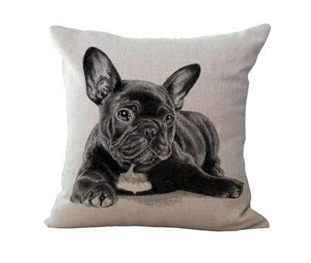 PinKart-USA Online Shopping 10 / 45x45cm No Filling Miracille 18Cotton Linen French Bulldog Digital Print Square Decorative Throw Pillow Cushions For