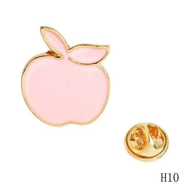 PinKart-USA Online Shopping 10 Cartoon Enamel Pins Fruit Pineapple Apple Brooches Pin Badges Cute Metal Animal Horse