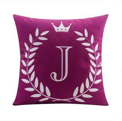 PinKart-USA Online Shopping 10 no filling / 45x45cm 26 Letters Cushions Decorative Pillow Almofada Colorful Pillow Linen Cotton Throw Pillow Cushion Fo
